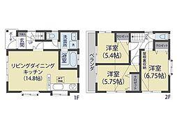[一戸建] 埼玉県草加市八幡町 の賃貸【/】の間取り