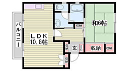 兵庫県神戸市西区持子1丁目の賃貸アパートの間取り