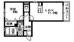 リラフォート[1階]の間取り