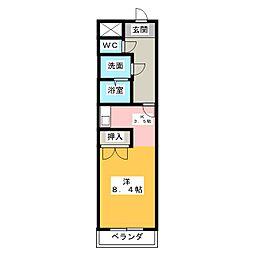 クレールシャンブル[3階]の間取り