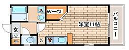 兵庫県神戸市中央区上筒井通7丁目の賃貸アパートの間取り