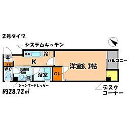 大阪府守口市京阪本通2の賃貸マンションの間取り