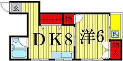 東京都足立区千住中居町の賃貸マンションの間取り
