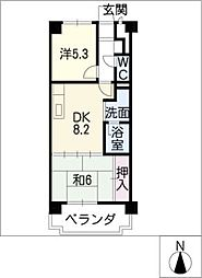 エステート鳴海[3階]の間取り
