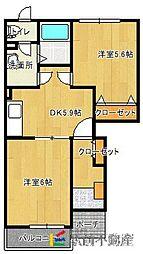 ピース・コアA[1階]の間取り