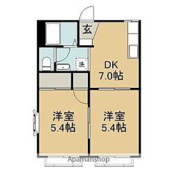 神奈川県横須賀市久里浜3丁目の賃貸アパートの間取り