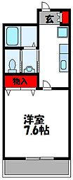 BBS古賀駅前 9階1Kの間取り