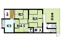 [テラスハウス] 奈良県奈良市大安寺1丁目 の賃貸【/】の間取り