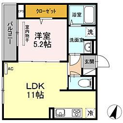 (仮)D-room草津梅が台[2階]の間取り