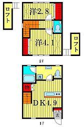 [一戸建] 東京都葛飾区高砂2丁目 の賃貸【東京都 / 葛飾区】の間取り