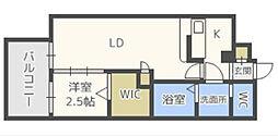 グランフォーレプライム西新[5階]の間取り