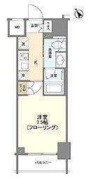 JR山手線 新橋駅 徒歩6分の賃貸マンション 7階1Kの間取り