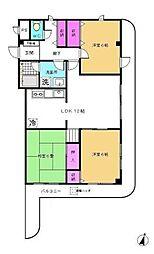 神奈川県横浜市都筑区北山田1丁目の賃貸マンションの間取り