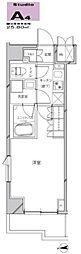 JR京浜東北・根岸線 川崎駅 徒歩21分の賃貸マンション 10階1Kの間取り