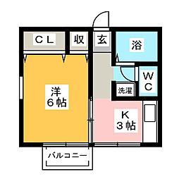 ツインズハウスA[2階]の間取り