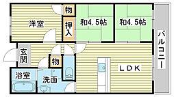 兵庫県姫路市中地南町の賃貸マンションの間取り