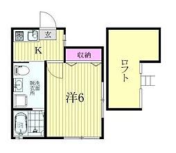 神奈川県横浜市港南区下永谷2丁目の賃貸アパートの間取り