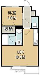 THE IoT Haranomachi α 2階1LDKの間取り