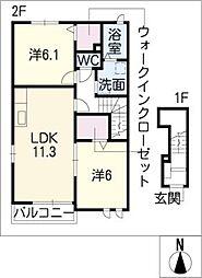 オクタ[2階]の間取り