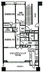 ラヴィドール田無ステーションフロント[505号室]の間取り