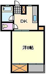 アマランス西新井[1階]の間取り