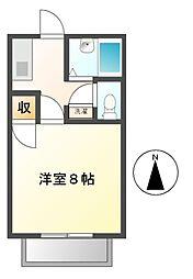 ジュネスKC[1階]の間取り
