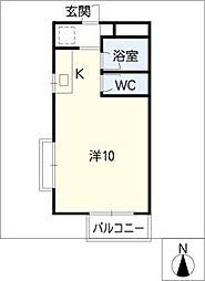 ハウスパインヒルII[2階]の間取り