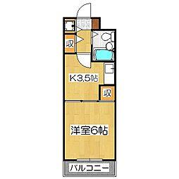 ライオンズマンション京都三条大宮[2階]の間取り