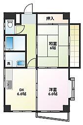 アヴェニュー藤[1階]の間取り