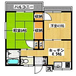 東京都杉並区成田西2丁目の賃貸アパートの間取り