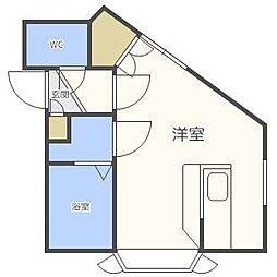 北海道札幌市南区澄川二条2丁目の賃貸アパートの間取り