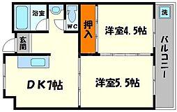 橋本第一綜合ビル[6階]の間取り