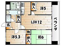 ビブレマンション赤坂[4階]の間取り