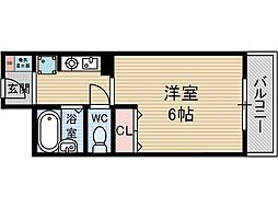 スチューデントパレス茨木[5階]の間取り