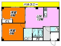 アクア・DUO 402号室[4階]の間取り