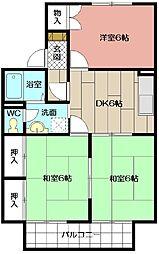 ウイング赤坂 A棟[201号室]の間取り