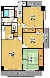 フェルティルマツイ2[1階]の間取り
