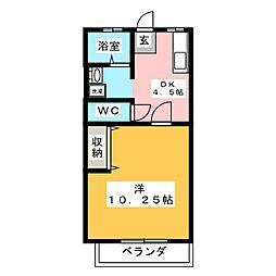 双葉コーポA棟[2階]の間取り