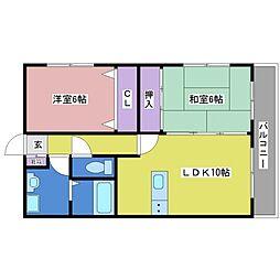 La Vista Hirose[2階]の間取り
