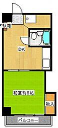 ダイアパレス蒔田第二[4階]の間取り