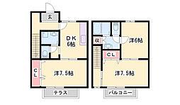 西蒲田ハイツ[1階]の間取り