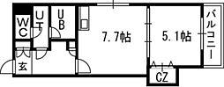 Vertical 18(バーティカル18)[00701号室]の間取り