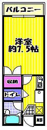 アドリーム松井[406号室]の間取り