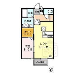 セジュール大和[1階]の間取り
