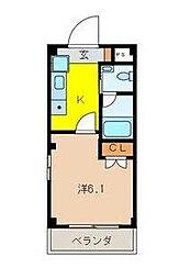 埼玉県さいたま市中央区上落合3-の賃貸マンションの間取り