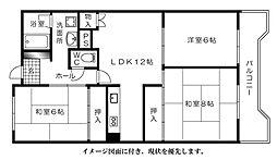 松川ハイツ--[304号室]の間取り