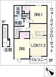 ラ・ルーチェ A[2階]の間取り