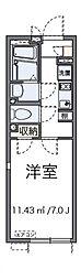 東京都八王子市八木町の賃貸アパートの間取り