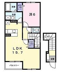 ジラソーレ・M[1-202号室号室]の間取り