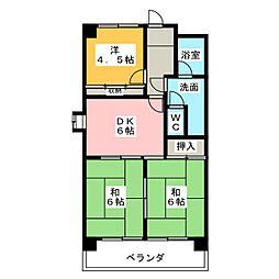 第3田中ビル[11階]の間取り